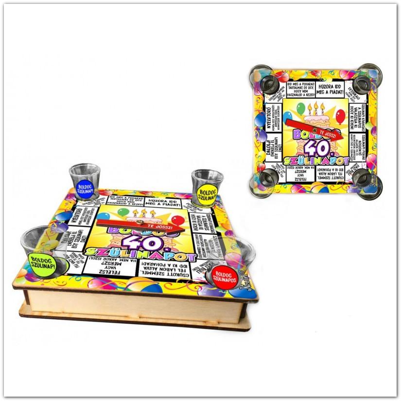 felnőtt szülinapi játékok Társasjáték felnőtteknek házibuliba: Boldog szülinapot ivós játék, 40. felnőtt szülinapi játékok