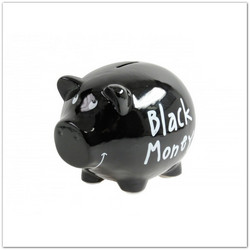 """Black money"" malacpersely, 17 cm"